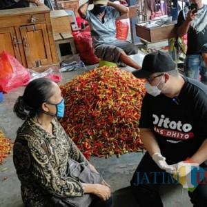 Hargai Cabai Melejit, Bupati Kediri Mas Dhito Sidak Pasar Induk Pare