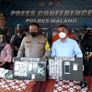 Residivis Tertangkap lagi, Polres Malang Buru Pemasok Narkoba yang Menjanjikan Uang Rp 10 Juta