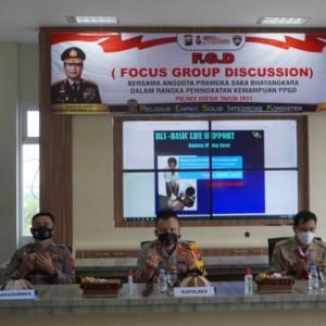 FGD Bareng Pramuka Saka Bhayangkara, Kapolres Gresik Harapkan Anggota Pramuka Jadi Contoh Disiplin Prokes