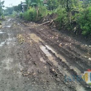 Parah, Jalan Menuju 2 Dusun di Tulungagung Seperti Kubangan Kebo