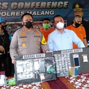 Rawan Narkoba, Dalam Sebulan Satreskoba Polres Malang Ungkap 59 Kasus
