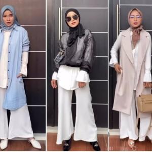 Styling Outfit Serba Putih Jadi Lebih Modis ala Hijabers Ussiy Fauziah, Bisa Dicontek Lho!