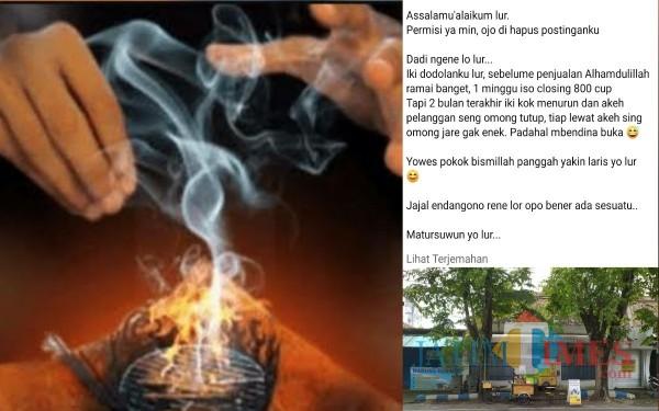 Ilustrasi dan postingan El di Facebook / Foto : Istimewa / Tulungagung TIMES
