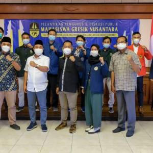 Bupati dan Ketua DPRD Gresik Hadiri Pelantikan Pengurus Mahasiswa Gresik Nusantara