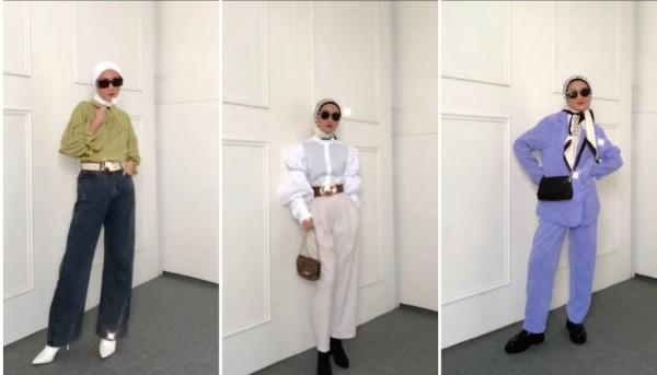 Outfit hijab ala Ko Moon Young K-Drama  'Its Ok to Not Be Okay'. (Foto: Instagram @inasrana).