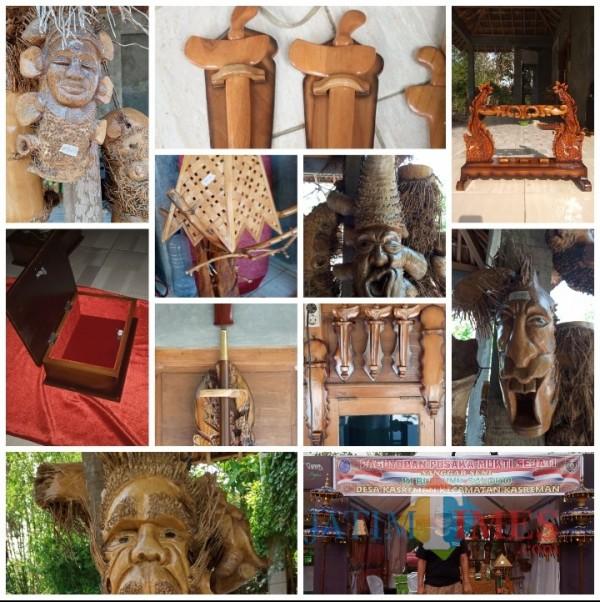 Hasil karya seni bongkol Bambu Dan Limbah Kayu, Agus Sugiarto