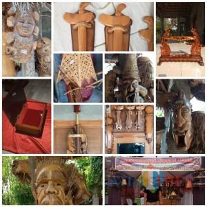 Bongkol Bambu dan Limbah Kayu Jadi Karya Seni Unik Bernilai Tinggi di Tangan Pria Ngawi Ini