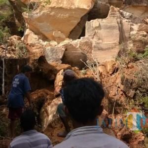 Nahas, Seorang Kakek Merenggut Nyawa Pasca Tertimpa Batu Besar di Bukit Kapur Arosbaya