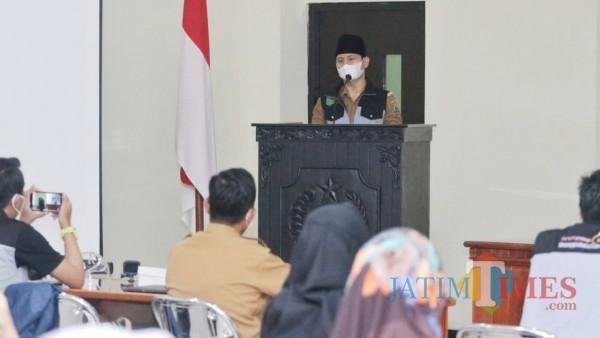 Bupati Trenggalek, Mochamad Nur Arifin saat beri pengarahan pada peserta pelatihan