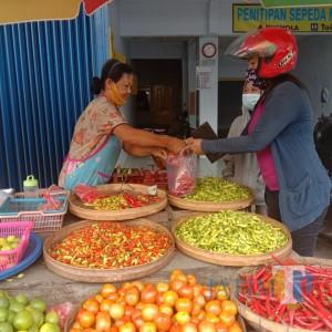 Harga Cabai Rawit Merah Meroket,Omzet Pedagang di Blitar Turun
