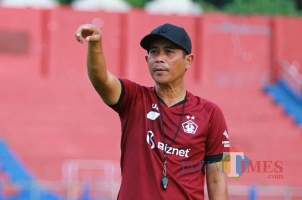 Coach Persik Kediri Joko Susilo. (Foto: Bams Setioko/JatimTIMES)