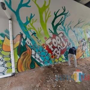 Bomber Beraksi, Jembatan Kedungkandang Mulai Berhias Grafiti Khas Malang
