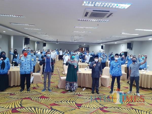 Suasana Bimtek Pengelolaan Konten Website dan Media Sosial di Lingkungan Pemkot Malang, di Hotel Savana (Rabu, 17/3/2021). (Arifina Cahyanti Firdausi/MalangTIMES).