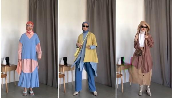 Mix and Match long oversized shirt menjadi berbagai outfit kekinian. (Foto: Instagram @inasrana).