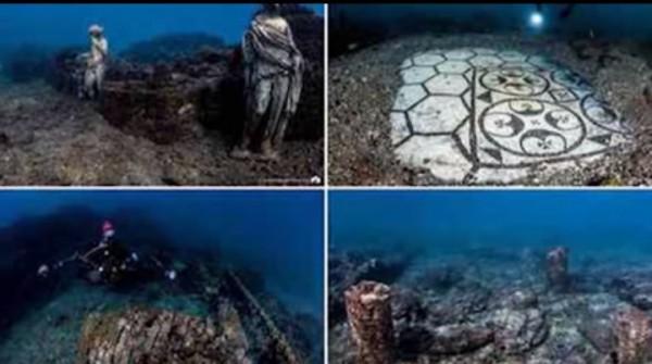 Potret kota kuno yang terkubur di dasar laut (Foto: Sidul Tube)
