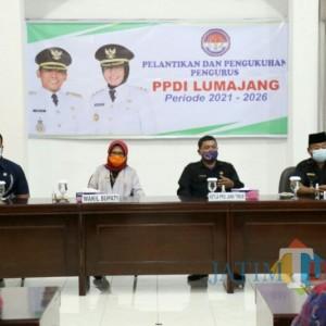 Kepengurusan PPDI Baru Dilantik, Wabup Lumajang Bunda Indah: Bekerja Harus Profesional Dan Baik