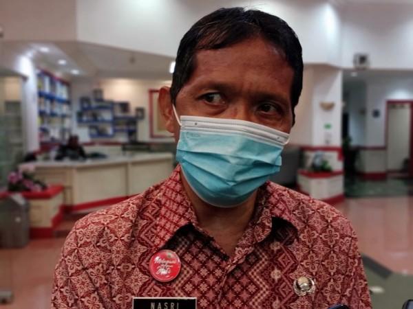 Kepala Dinas Ketahanan Pangan Kabupaten Malang Nasri Abdul Wahid saat menjelaskan stok pangan menjelang lebaran, Jumat (19/3/2021). (Foto: Istimewa)