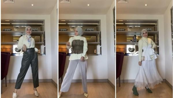 Modis dengan basic outfit ala hijabers Tiqasya. (Foto: Instagram @tiqasya).