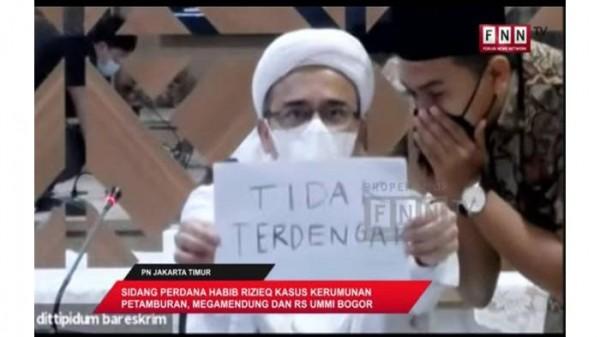 Sidang Habib Rizieq (Foto: Sindonews)