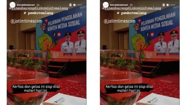 Pelatihan pengelolaan media sosial (Foto: Instagram)