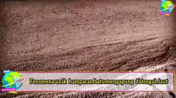 Fenomena hamparan batu (Foto: YouTube Top Videos of Unique and Strange World)