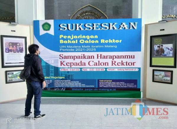 Both aspirasi yang disediakan bagi warga UIN Malang untuk menyampaikan aspirasinya kepada calon Rektor (Anggara Sudiongko/ MalangTIMES)
