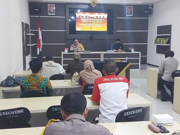 Polresta Malang giat MoU bersama dengan melibatkan masayarakat di Polresta Malang, Kamis (25/3/2021) (foto istimewa)