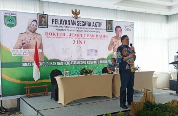 Dispendukcapil Kota Batu sosialisasikan inovasi terbarunya terkait Pelayanan Dokter Jemput Pak Bagir (foto istimewa)