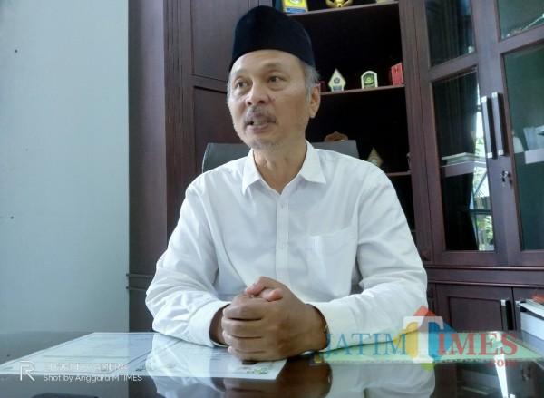 Rektor UIN Maliki Malang, Prof Abdul Haris yang kembali maju dalam kontesisasi Pilrek UIN Malang periode 2021-2025 (Anggara Sudiongko/MalangTIMES)