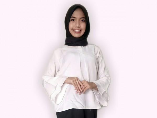 Salah satu semifinalis Duta Informasi Diskominfo Kabupaten Malang, Sarah Rukhcelina Kailintan (foto: istimewa)