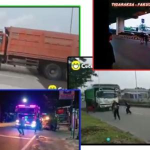 Viral Aksi Bahaya Bocah Belasan Tahun Tantang Truk yang Melaju Kencang di Jalan Raya & Tol