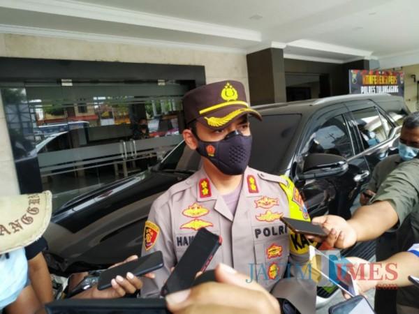 Kapolres Tulungagung AKBP Handono Subiakto, foto diambil waktu press rillis beberapa waktu lalu. (Foto: Anang Basso/TulungagungTimes)