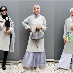 Inspirasi Pakai Long Knitwear Jadi 3 Look Berbeda ala Hijabers, Stylish Abis!