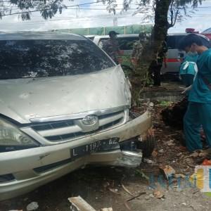 Diduga Ngantuk, Seruduk Motor Parkir di Tulungagung, 2 Luka dan 1 Meninggal