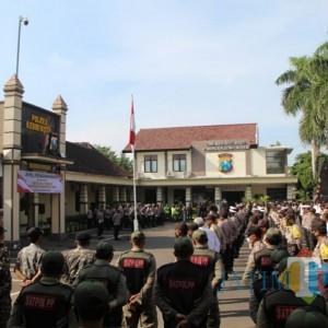 Jelang Paskah, Pasukan Gabungan Kediri Lakukan Pengamanan Ketat hingga Patroli Skala Besar