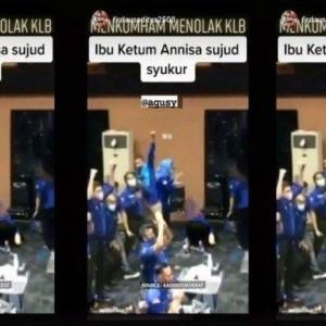 Viral Video Annisa Pohan Sujud Syukur saat Dengar Keputusan KLB Demokrat Moeldoko Ditolak