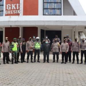 Tingkatkan Keamanan di Rumah Ibadah, Polres Gresik Terjunkan Ratusan Personel