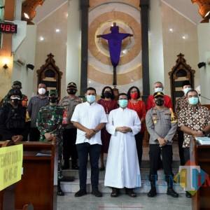 Wali Kota Kediri Bersama Forkopimda Pastikan Keamanan Ibadah Paskah