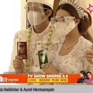 Selamat! Atta Halilintar dan Aurel Resmi Menikah, Jokowi-Prabowo Jadi Saksi