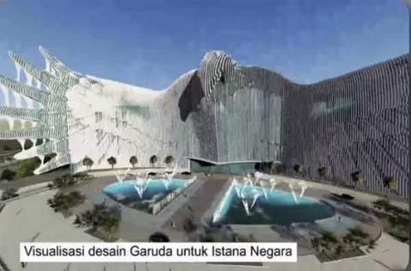 Desain Garuda Istana (Foto: Twitter)
