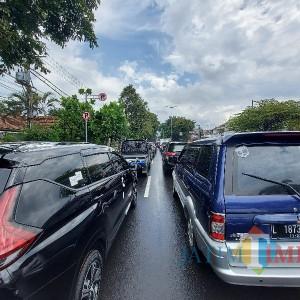 Libur Panjang, Arus Lalu Lintas Masuk Kota Malang Padat