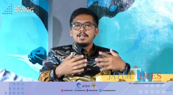 Anggota Komisi 1 DPR RI, Krisna Dewanata Phrosakh dalam seminar Merajut Nusantara. (Istimewa)