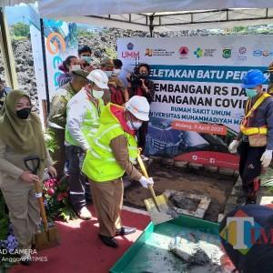 Sisakan 14 Ribu Zona Kuning, Bupati Malang Sanusi Mulai Bangun RS Lapangan Covid-19