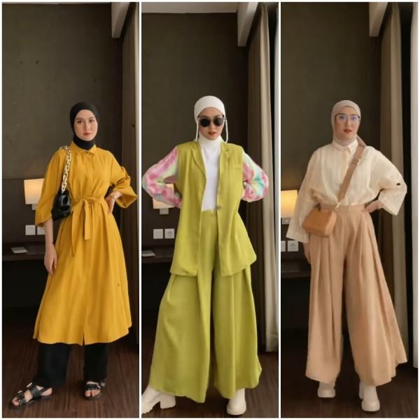 Inspirasi busana colorfull untuk hijabers. (Foto: Instagram @inasrana)