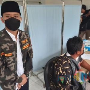 Anggota GP Ansor Kabupaten Kediri Vaksinasi Pertama