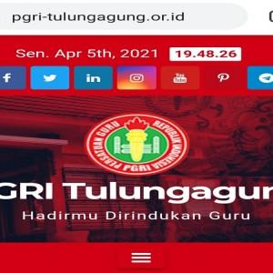 Keren, Website PGRI Tulungagung Ini Jadi Media Publikasi dan Kreativitas Guru
