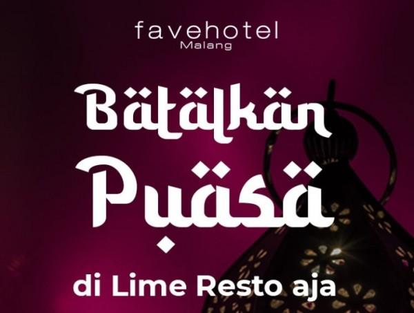 """Promo menarik """"Batalkan Puasa di Lime Resto Aja"""" by favehotel Malang (istimewa)"""