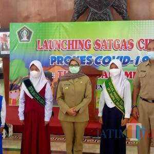Cegah Kluster Covid-19 di Sekolah, Bupati Rini Launching Satgas Cilik