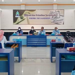 Tingkatkan Pelayanan, Perumda Tirta Kanjuruhan Gandeng PWI Malang Raya