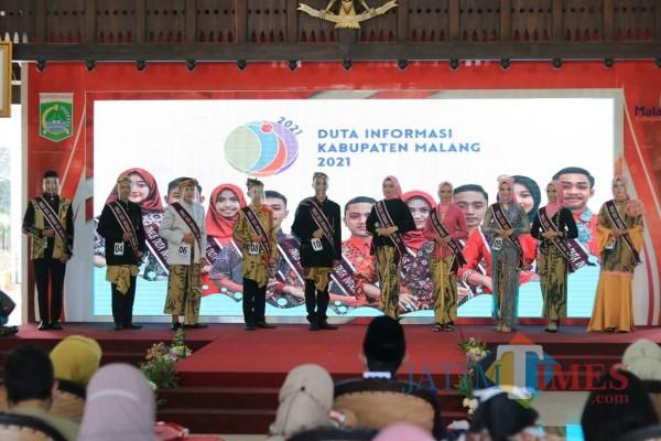 Suasana Grand Final Duta Informasi Kabupaten Malang yang diadakan di Pendapa Kabupaten Malang, Selasa (6/4/2021) (Foto: Fery A/MalangTIMES)